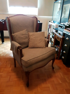 Lady's wing chair