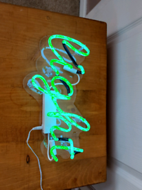 Green Neon Light Up Sign