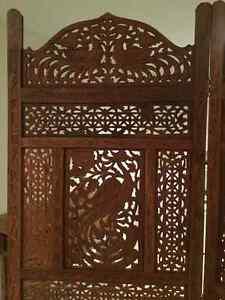 Indonesian carved wood room divider / paravent indonésien bois Gatineau Ottawa / Gatineau Area image 3