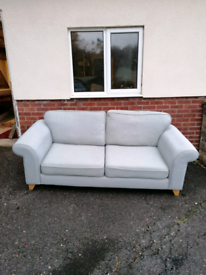 2 grey/blue sofas, used condition