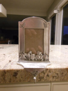 Seagull Pewter Picture Frame Christmas Stocking Holder