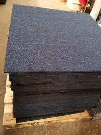 40 x Blue Carpet Tiles (worth £120) - Brand New Strong