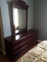 Nice 6 drawer dresser with detachable mirror. Asking 125.00