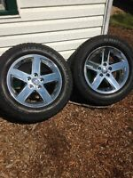 Set of 4 Ram 20's with great tires near Yorkton