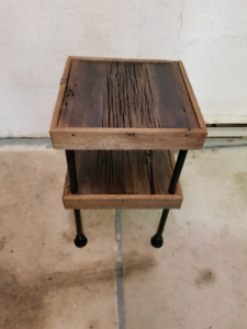 Hand crafted modern vintage side table