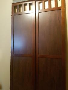 3-Panel Wood Folding Screen