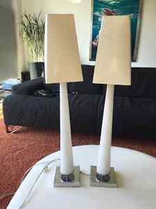 """PRICE REDUCED: 30"""" Tall Glass Lamps"""