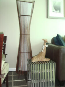 Rattan Asian Floor Lamp