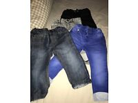 4 pairs boys jeans 12-18months