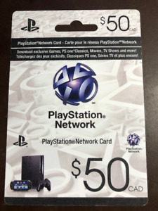 Playstation network card 50 - Brand New