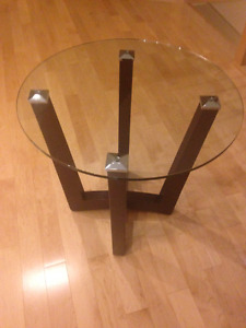 Glass Coffee Table with Matching End Tables
