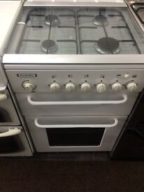 White flavel 55cm gas cooker grill & oven good condition with guarantee bargain