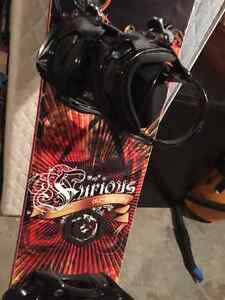 Snowboard and Boots Used once BRAND NEW Kingston Kingston Area image 1