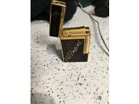 St DuPont lighter gold plated