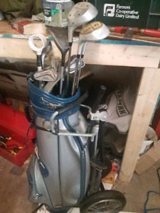 left handed clubs with carring cart