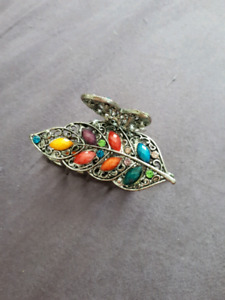 Colourful, leaf, butterfly clip