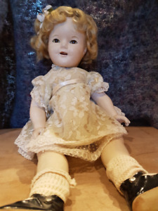 """1935 SHIRLEY TEMPLE 18"""" COMPOSITION DOLL"""