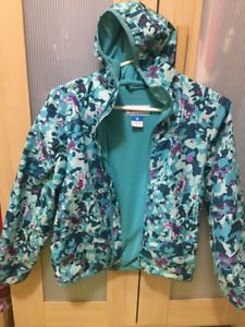 Girls Columbia rain coat size M