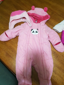 9 month 1 piece snow suit and hat