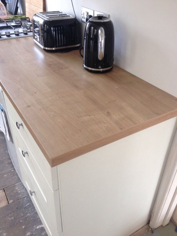 38mm B Amp Q Arlington Oak Square Edge Kitchen Worktop In