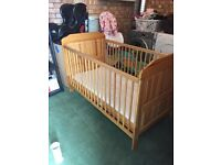 Baby cot toddler bed