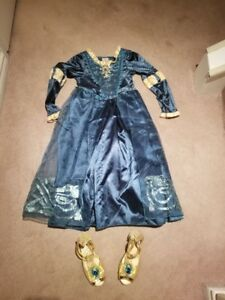 Disney Merida dress Size 7 - 8 and shoes size 12 or 13