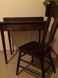 Antique Table and Chair