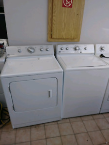2 full size top load washer/dryer maytag and whrilpool