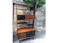 Vintage retro G plan mid century 50s 60s teak wooden room divider cocktail cabinet bar book case