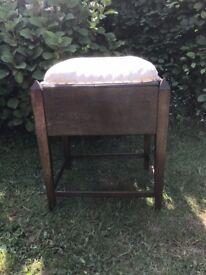 gothic style oak piano stool