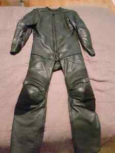 Akoury Real leather Motorcycle racing street one piece suit