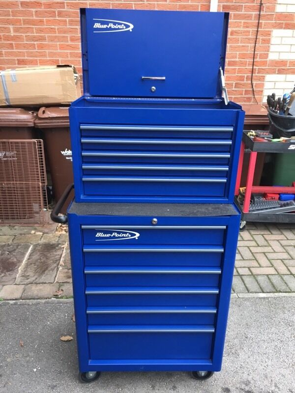 Blue Point Made By Snap On Tools Roll Cab And Top Box In