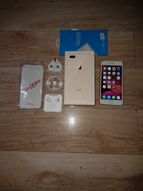 Iphone 8 Plus Bundle Unlocked 64GB Gold I Phone Eight +