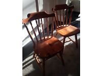 2 x SOLID PINE DINING CHAIRS