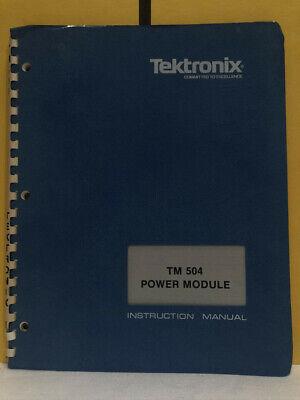Tektronix 070-1716-01 Tm 504 Power Module Instruction Manual