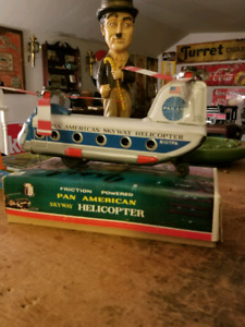 Friction Powered Pan American Skyway Helicopter W/Box