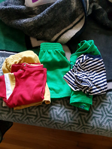 Boys clothes ranging from size 12 months to 18 months.
