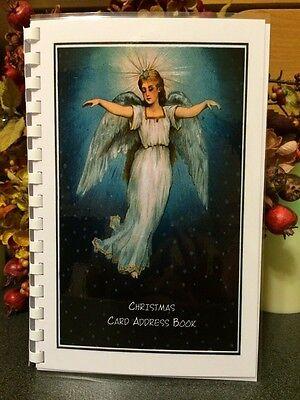 CHRISTMAS CARD ADDRESS BOOK Organizer A-Z Personalized Gift 8 yrs Angel 230 ()