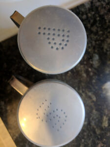 Salt and pepper shakers for camping