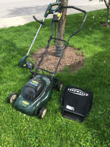 Yardworks Electric Lawn Mower and Weed Eater