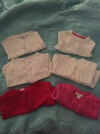 Baby girl new born and 0-3 cardigan