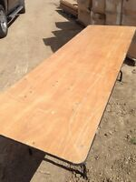 WOOD FOLDING TABLES (SALE)