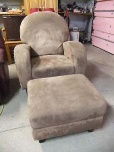 Beige suede chair
