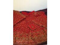Gorgeous Red&Gold 14/16 Banarsi Bridal Lengha