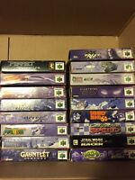 N64 BOXES & MANUALS ONLY