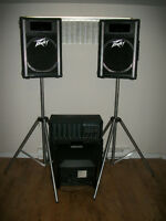 PEAVEY SOUND SYSTEM * MIXER * SPEAKERS * ALSO MONITORS & STANDS