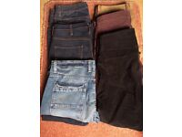 Men's jeans and cords