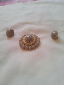 antique earings and matching brooch