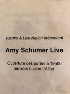 Ticket for Amy Schumer's SOLD OUT show