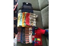 9-12 months (1 x jumper, 6 x t shirts, 7 x long sleeved t shirts)